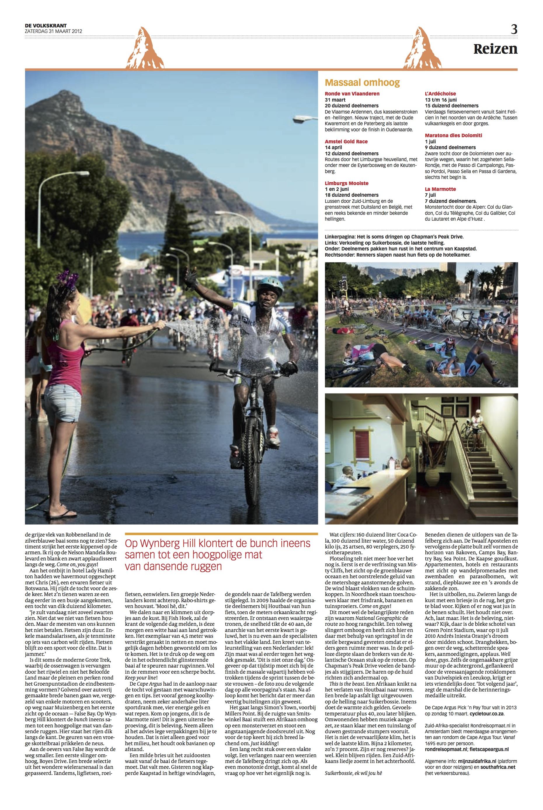 Cape Argus Verslag Volkskrant - blz 3